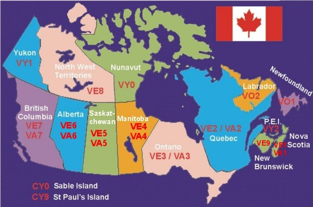 Maps - Us map of ham radio call sign prefixes